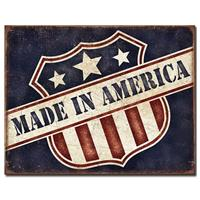 Fiftiesstore Made In America Retro Metalen Poster