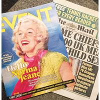 Fiftiesstore Marilyn Monroe The Mail on Sunday + Event Special UK