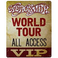 Fiftiesstore Metalen Poster Aerosmith World Tour All Access VIP
