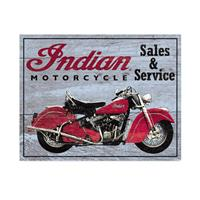 Fiftiesstore Metal Poster Indian Motorcycle Sales & Service