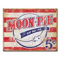 Fiftiesstore Moon Pie Eat Mo' Pie metalen bord