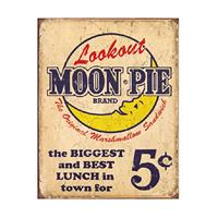 Fiftiesstore Lookout Moon Pie Brand Metal Sign