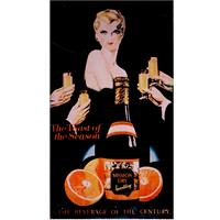 Fiftiesstore Mission Dry Sparkling Metalen Poster
