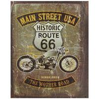 Fiftiesstore Route 66 Main Street USA The Mother Road Metalen Poster