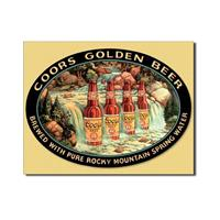 Fiftiesstore Coors Golden Beer Metalen Bord
