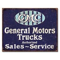 Fiftiesstore Metalen Poster - General Motors GMC Trucks Sales Service