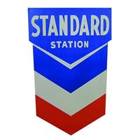 Fiftiesstore Metalen Poster - Standard Station (Gas)