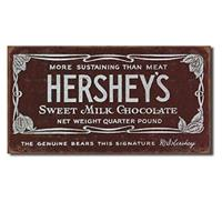 Fiftiesstore Hershey's Sweet Milk Chocolate Metal Sign