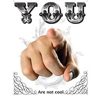Fiftiesstore Metalen Poster - You Are Not Cool