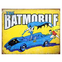 Fiftiesstore The Batmobile Metalen Poster
