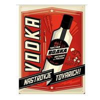 Fiftiesstore Metal Sign Vodka 30 x 40 cm