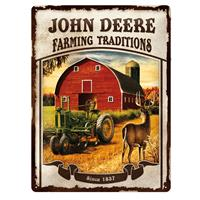 Fiftiesstore Tin SignJohn Deere Farming Traditions' 30 x 40 cm