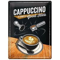 Fiftiesstore Capuccino Is Always A Good Idea Metalen Bord 30 x 40 cm