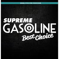 Fiftiesstore Sticker Supreme Gasoline Best Choice: Wit