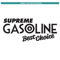 Fiftiesstore Sticker Supreme Gasoline Best Choice: Zwart