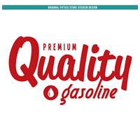 Fiftiesstore Sticker Premium Quality Gasoline : Rood
