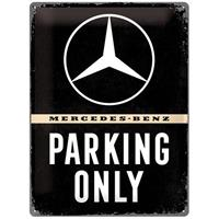 Fiftiesstore Mercedes-Benz Parking Only Metalen Bord 30 x 40 cm