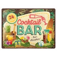 Fiftiesstore Cocktail Bar Best Atmosphere Retro Metalen Bord 30 x 40 cm