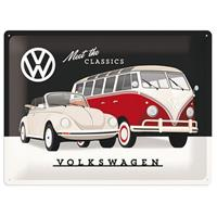 Fiftiesstore Meet The Classics Volkswagen Metalen Bord 30 x 40 cm