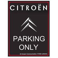 Fiftiesstore Citroën Parking Only Metalen Bord 30 x 40 cm