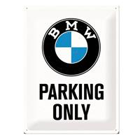 Fiftiesstore Metalen PlaatBMW Parking Only' 30 x 40 cm
