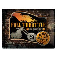 Fiftiesstore Metalen PlaatFull Throttle' 30 x 40 cm