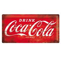 Fiftiesstore Drink Coca Cola Wood Look 25 x 50 cm