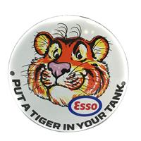 Fiftiesstore Esso Put A Tiger In Your Tank Emaille Bord 12 cm ø