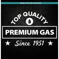 Fiftiesstore Sticker Top Qualilty Premium Gas : Wit