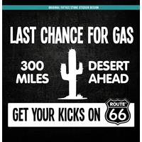 Fiftiesstore Sticker Last Chance For Gas: Wit