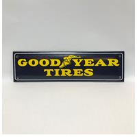 Fiftiesstore Good Year Tires Logo Emaille Bord Klein