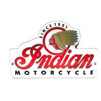 Fiftiesstore Indian Motorcycle Emaille Bord 15 x 10 cm