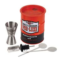 Fiftiesstore Harley-Davidson Oil Drum Cocktail Cadeau Set (LAATSTE KANS)