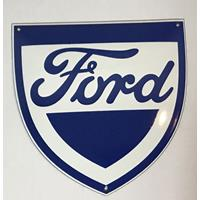 Fiftiesstore Ford Emaille logobord Klein