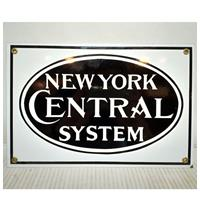 Fiftiesstore New York Central System Emaille Bord Groot