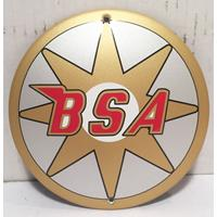 Fiftiesstore BSA Logo Emaille Bord