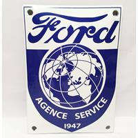 Fiftiesstore Ford Agence Service 1947 Emaille Bord