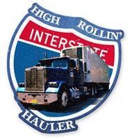 Fiftiesstore High Rollin' Interstate Hauler Zwaar Metalen Bord 40 x 35 cm