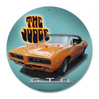 Fiftiesstore GTO The Judge (Dodge) Zwaar Metalen Bord