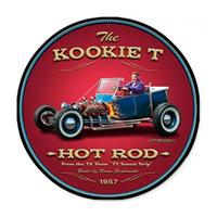 Fiftiesstore The Kookie T Hot Rod Zwaar Metalen Bord