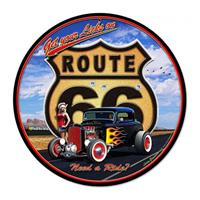 Fiftiesstore Route 66 Hot RodGet Your Licks' Zwaar Metalen Bord