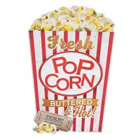 Fiftiesstore Fresh Popcorn Buttered and Hot MDF Wand Bord