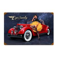 Fiftiesstore Eye Candy Classic Car Petticoat Zwaar Metalen Bord