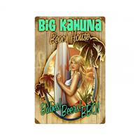 Fiftiesstore Big Kahuna Beach House Babe Zwaar Metalen Bord