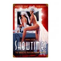 Fiftiesstore Showtime Broadway Musical Pin-Up Zwaar Metalen Bord