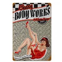 Fiftiesstore Classy Body Works Full Service Garage Zwaar Metalen Bord