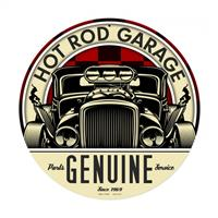 Fiftiesstore Hot Rod Garage Genuine Parts Service Zwaar Metalen Bord