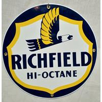 Fiftiesstore Richfield Hi-Octane emaille bord