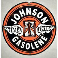 Fiftiesstore Johnson Gasolene Emaille Bord