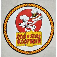 Fiftiesstore Dog n Suds Rootbeer Emaille Bord